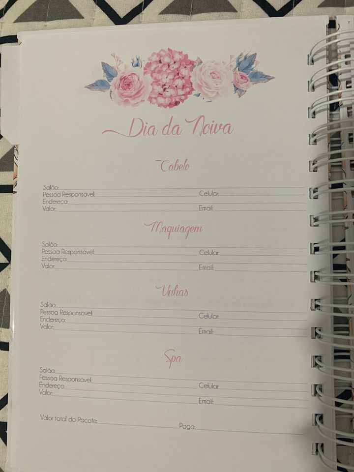 Agenda/planner da Noiva - 4