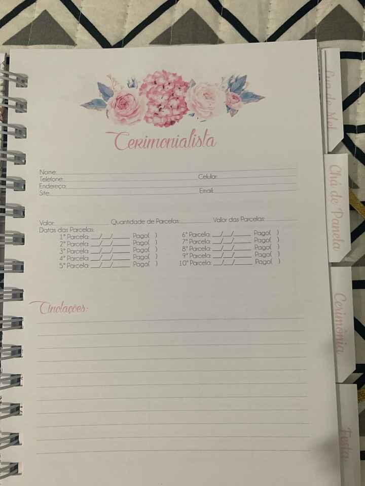 Agenda/planner da Noiva - 5