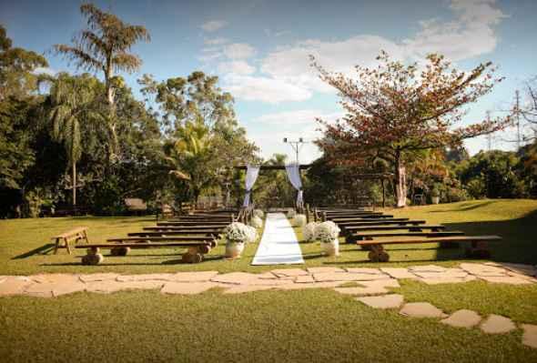 Jardim para cerimônia.