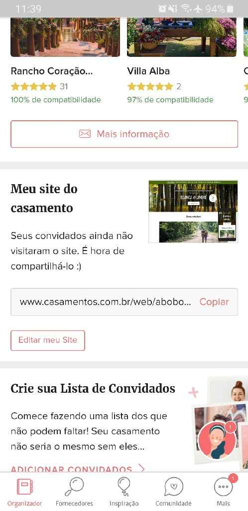 Compartilhamento de site - 1