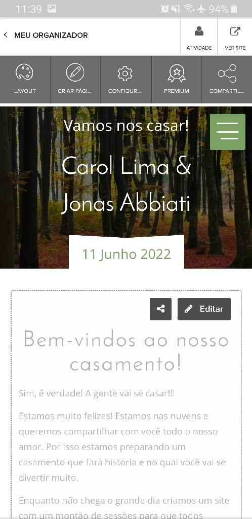 Compartilhamento de site - 2