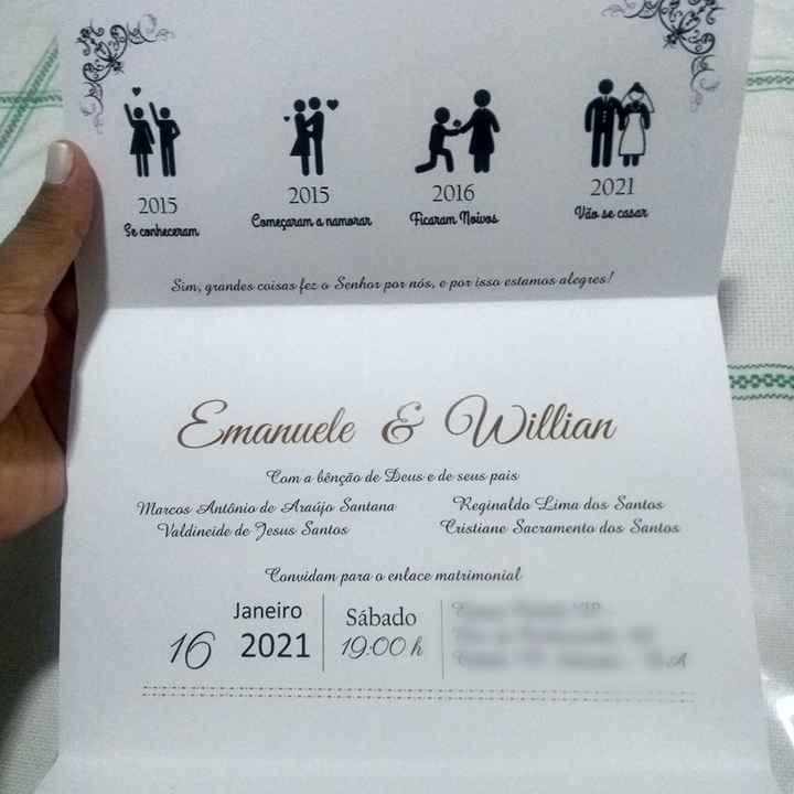 Meus convites chegaram! #vemver - 2