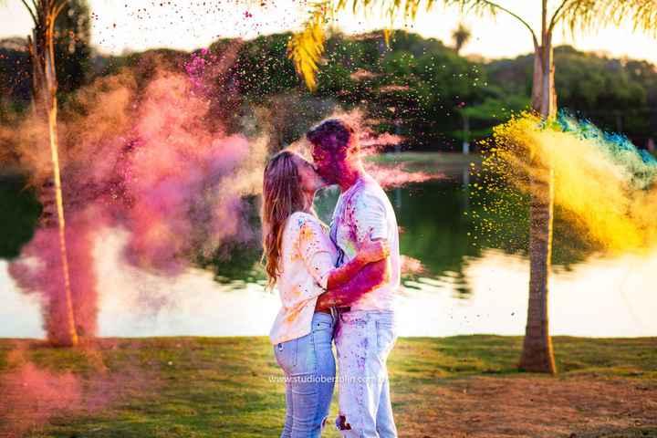 Ensaio fotográfico Holi Powder (pó colorido): Muitas cores para celebrar o amor - 1