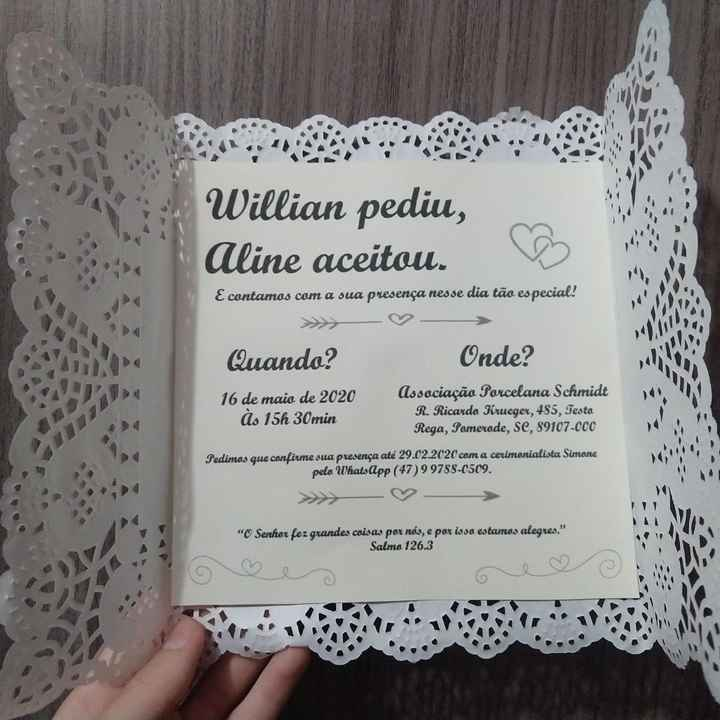 Convites de casamento - 5