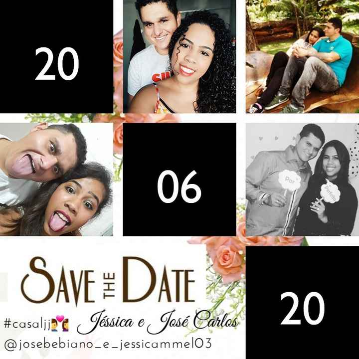 Meu Save The Date😍 - 1