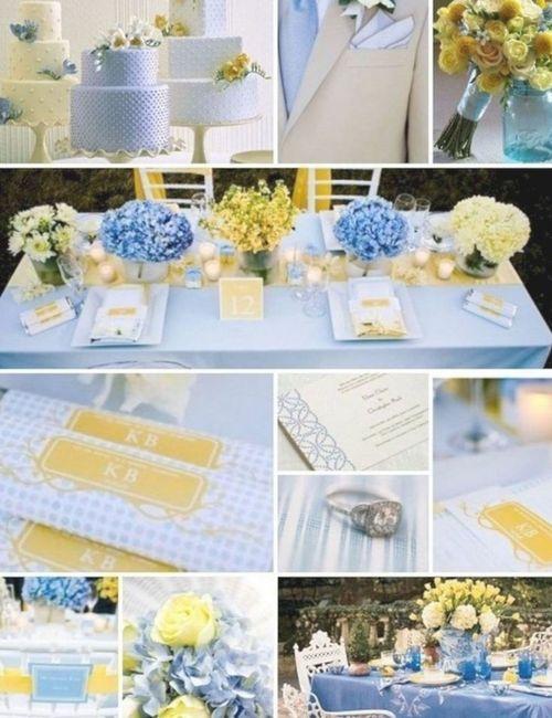 Decoração Azul Serenity e Amarelo - 2