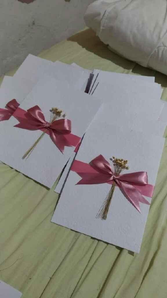 Confecção do convite - 1