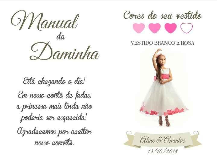 Convite para daminhas e pajens - 3