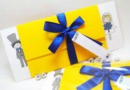 Convite azul e amarelo - 4