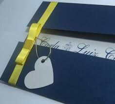 Convite azul e amarelo - 6