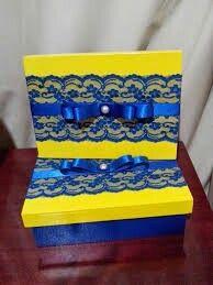 Convite azul e amarelo - 8