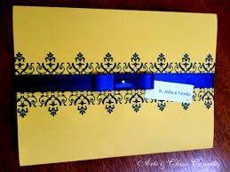 Convite azul e amarelo - 11