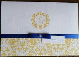 Convite azul e amarelo - 12