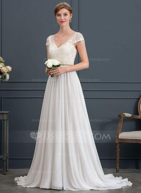 Vestido de noiva para casamento de manhã 1