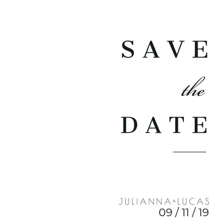 Meu save the Date (casamento minimalista) - 1