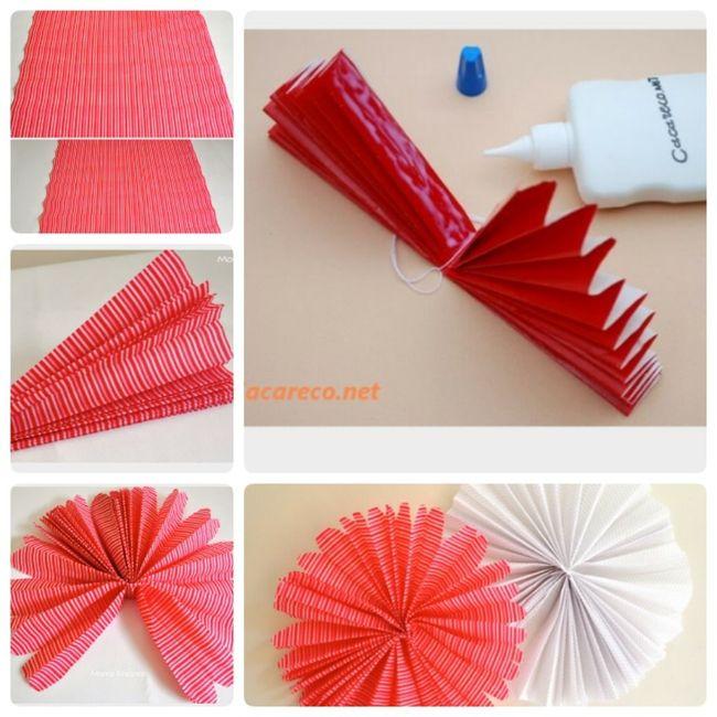 Decoraç u00e3o do chá de panela usando papel crepom!!! -> Decoração De Papel Crepom Como Fazer
