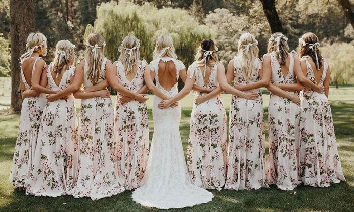 Madrinhas de vestidos Florais! 1