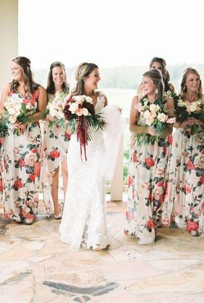 Madrinhas de vestidos Florais! 2