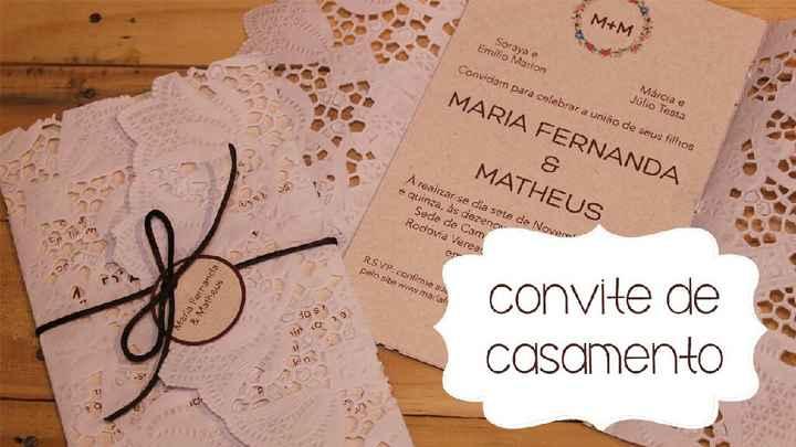 Convite de casamento Rustico♡, me ajudemmm!!! - 1