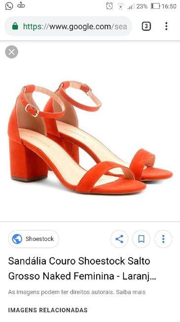 Aposta mortal: casar de sapato laranja!!! 1
