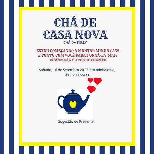 Convite Para Chá