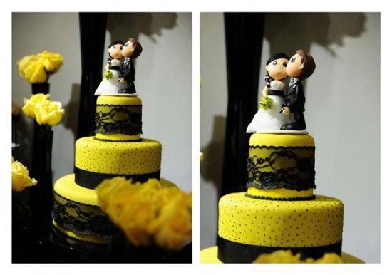 Amarelo E Preto! – Fotos Casamentos.com.br~ Decoracao Branco Preto E Amarelo