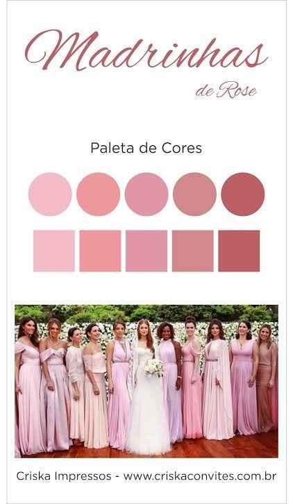 Escolher tabela de cores para os vestidos das Madrinhas Sim ou Não? - 1
