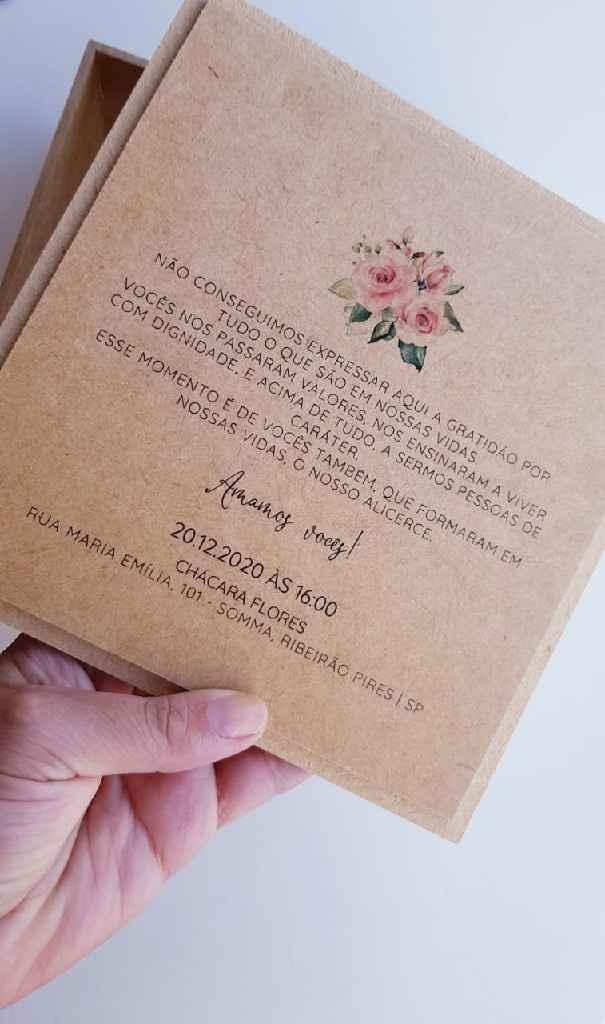 Convite para os pais dos noivos - 2