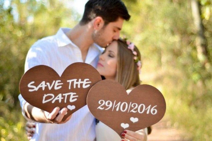 """Plaquinhas, principalmente se você vai fazer o famoso """"Save the Date"""""""