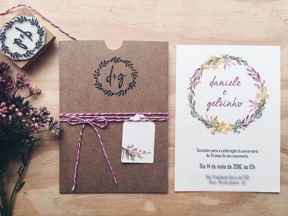 Transformando um convite simples ... em um chique e inesquecível ! Carimbo ♥ #vemveromeu 2