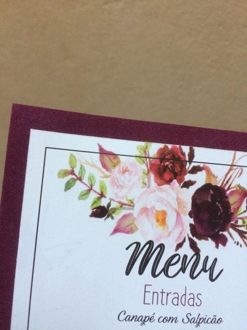Menu de casamento impresso #diy #euquefiz #vemver 1