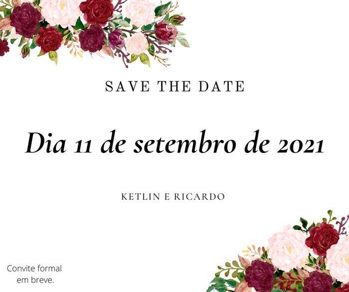 Se inspire com os Save the date de noivinhas da comunidade 💜 10