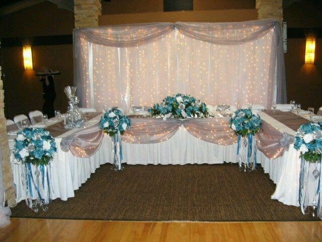 Head Table Decorations Wedding Reception Wedding Dress: Mesa Dos Noivos Junto Ou Separado Com Os Padrinhos