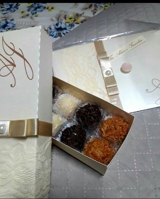 Nossos convites + caixinha de padrinhos - 5