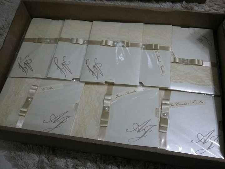 Nossos convites + caixinha de padrinhos - 2