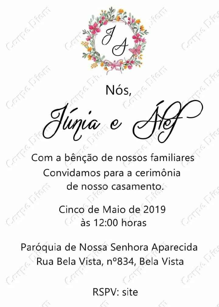 Convite de casamento - 3