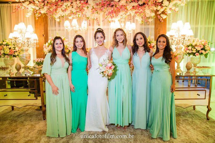 Meu dilema com a cor dos vestidos das madrinhas 2