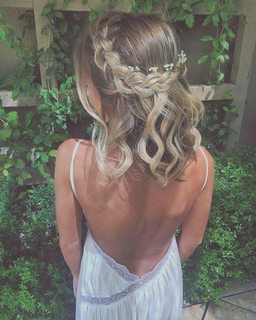 5 penteados semi-presos para noivas de cabelo curto - VOTE! 2