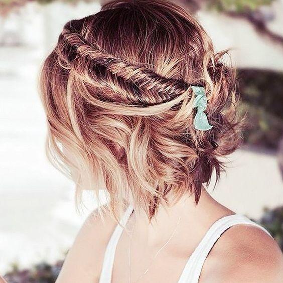 5 penteados semi-presos para noivas de cabelo curto - VOTE! 3