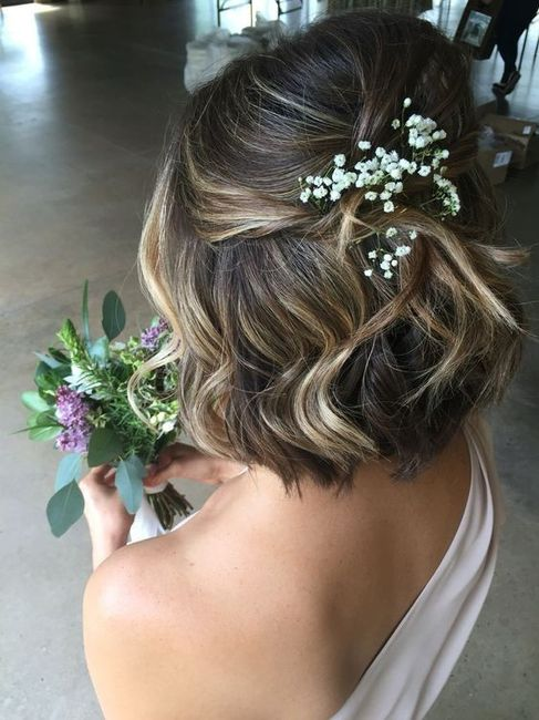 5 penteados semi-presos para noivas de cabelo curto - VOTE! 4