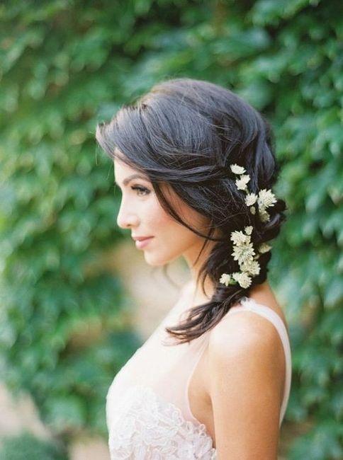 5 penteados semi-presos para noivas de cabelo curto - VOTE! 5