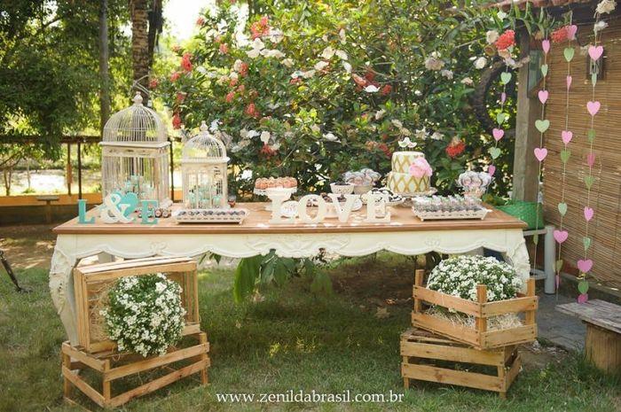 Noivado dos sonhos: a decoração da mesa 1