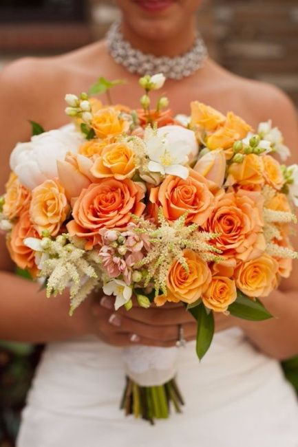 wedding ideas orange inspira 231 227 o 10 buqu 234 s na cor laranja 28275