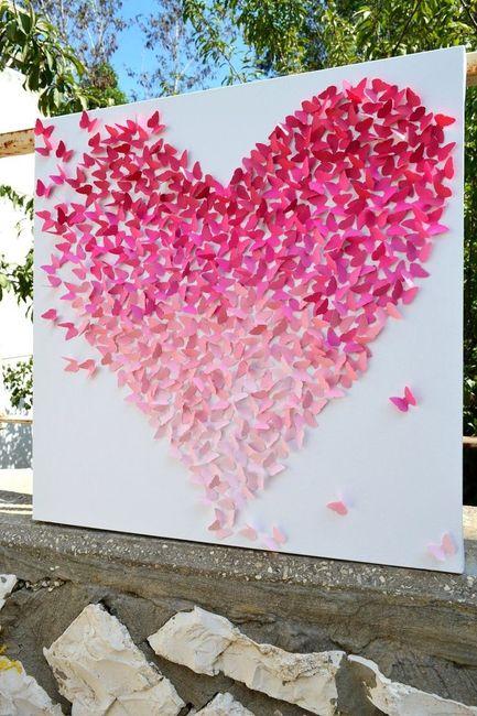 Painel de coração de papel (para tirar fotos lindas)