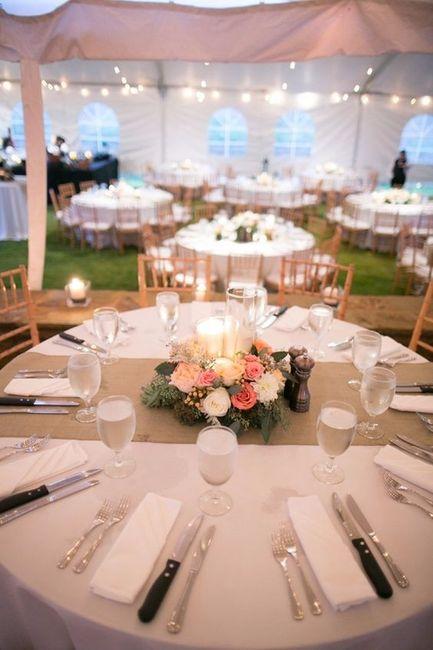 A decoração do seu casamento as mesas