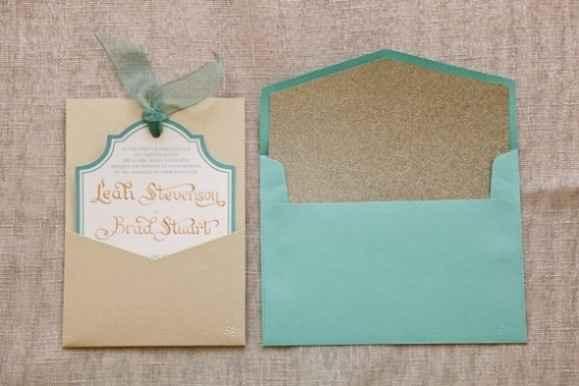 Convite Azul Tiffany e Bege
