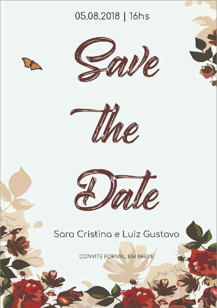 Save The Date * - * - 1
