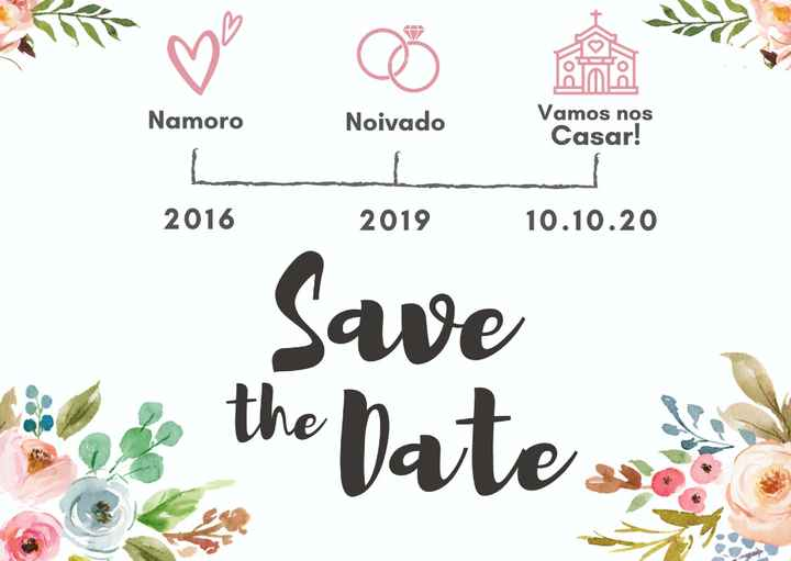Quando mandar o Save The Date??? - 1
