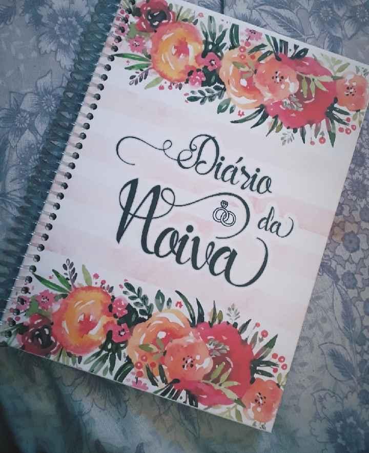 Chegou meu Diário da Noiva. - 1