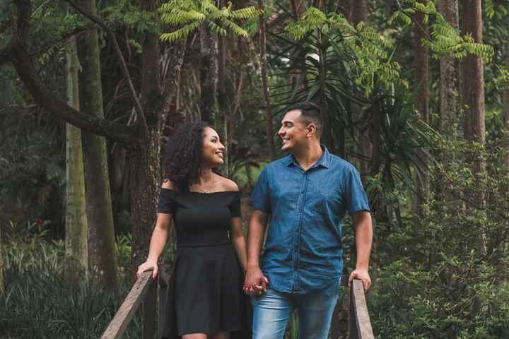 Uma foto do nosso pré-noivado.